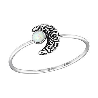 Moon - 925 Sterling Silver Jewelled Rings