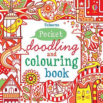 Red Pocket Doodling  Colouring Book