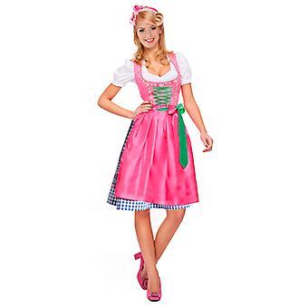 Dirndl bayerske drakt - lilla / rosa