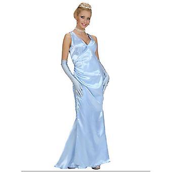 Satin kjendis blå (kjole hansker)