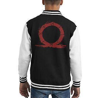 Symbol God Of War Hero Blood Silhouette Kid's Varsity Jacket