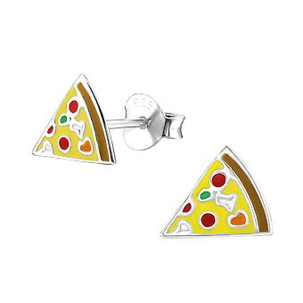Pizza - Epoxy Colour + 925 Sterling Silver Colourful Ear Studs - W24726x