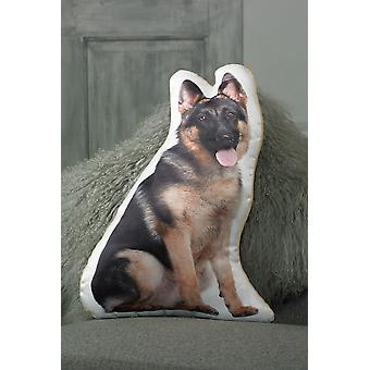 Adorable Short Haired German Shepherd Shaped Cushion