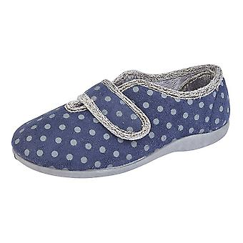 Sleepers Womens/Ladies Lucy V Throat Touch Fastening Memory Foam Slipper
