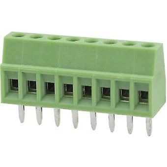 Degson DG308-2.54-05P-14-00AH Screw terminal 0.82 mm² Number of pins 5 Green 1 pc(s)