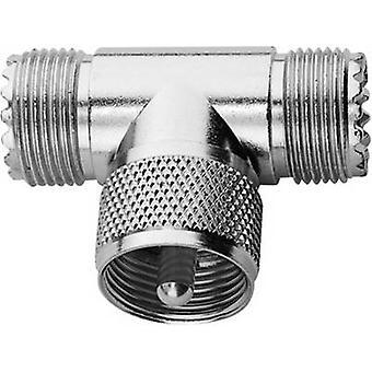 BNC adapter UHF socket-UHF plug, UHF socket Telegärtner1 pc(s)