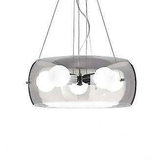Ideal Lux Audi 5 Globe hänge med rökt glas skål Cover