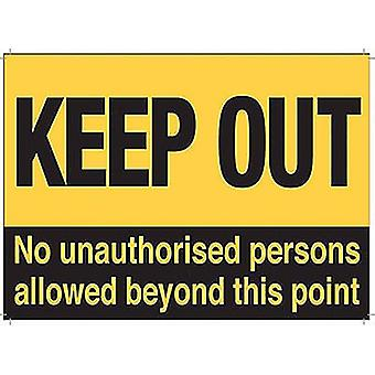 Keep Out No Unauthorised Persons Allowed Beyond This Point Fridge Magnet