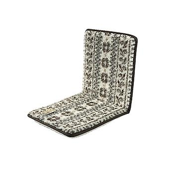 Double Chair cushions seat cushion with backrest beige-Brown 80 x 37 cm wool