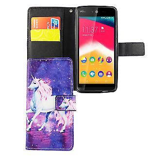 Telefono cellulare custodia per mobile jam WIKO Rainbow magic Unicorn