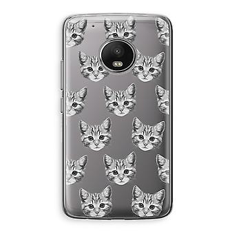 Motorola Moto G5 boîtier Transparent (doux) - chaton