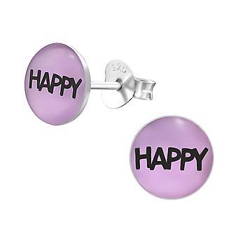 «happy» - 925 argent Sterling coloré argenter - W26429x