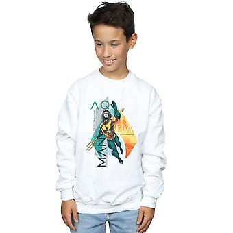 DC Comics Boys Aquaman Tropical Icon Sweatshirt