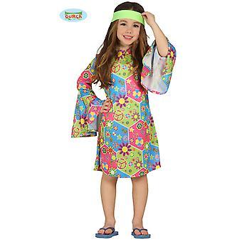 Guirca Buntes Hippie Kleid mit Schlagärmeln für Mädchen Blumen Girls