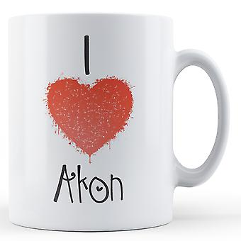 Decorative Writing I Love Akon Printed Mug