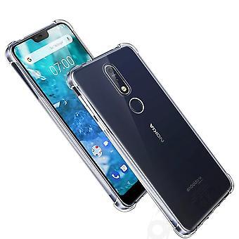 Nokia 3.1 Plus Transparent Case Hülle Silikon