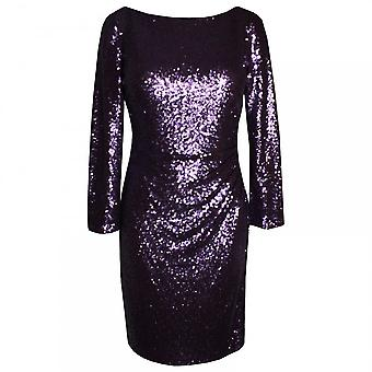 Veromia Occasions Long Sleeve V-back Sequin Dress