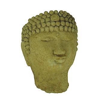 Designer Stone Harvest Yellow Buddha Head Concrete Wall Mounted Planter