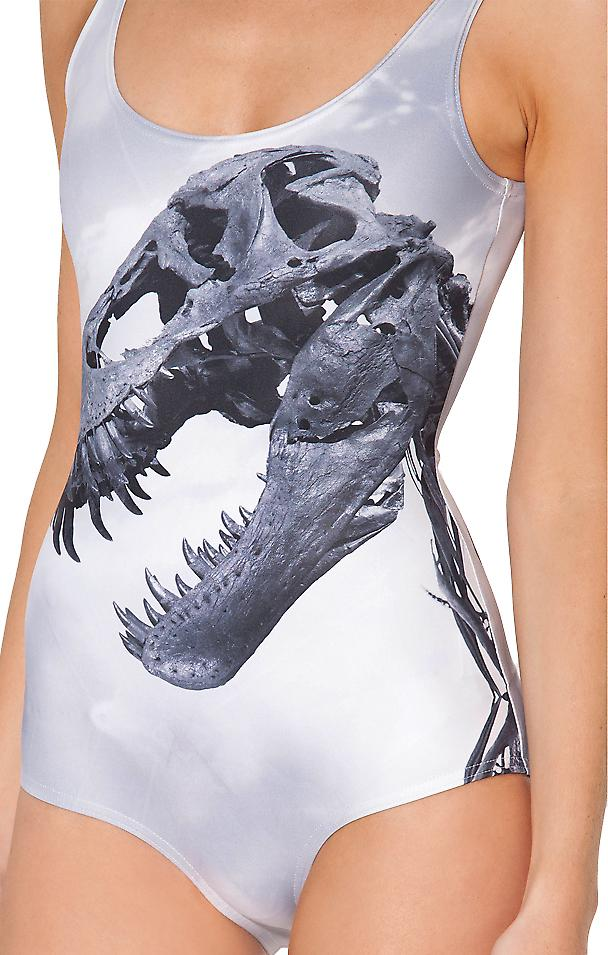 Waooh - Fashion - Swimwear printed dinosaur skull
