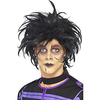 Wild Black Messy Halloween Wig, Edward Scissorhands Wig