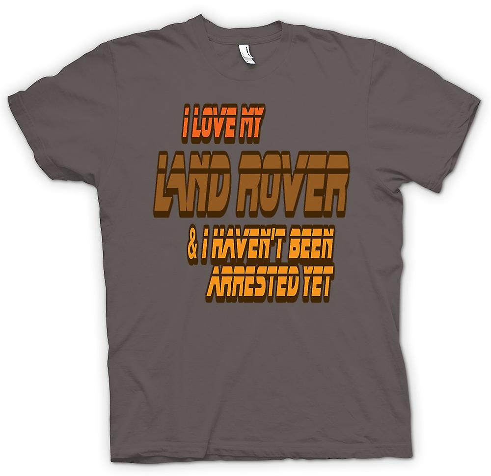 Womens T-shirt - I Love My Landrover