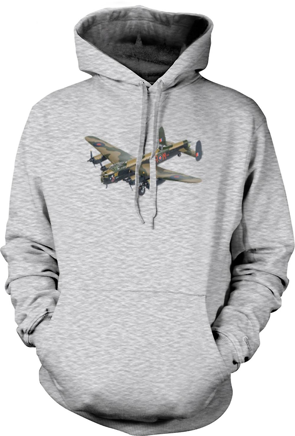 Mens Hoodie - Fighter plan bombplan kamouflage