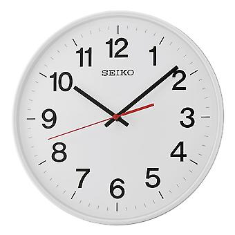 Seiko lugnt sopa Second Hand vägg klocka vit (modell nr QXA701H)