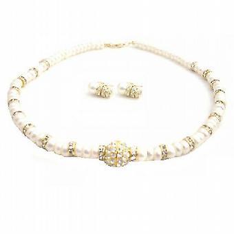 Handgjorda Choker sötvattenspärlor Rondell guld pläterad hängsmycke halsband 2d7414c545f7a