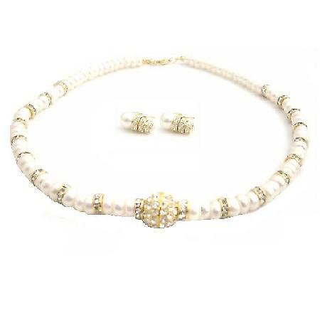 Handmade Choker FreshWater Pearls Rondell Gold Plated Pendant Necklace
