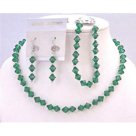 Emerald Crystals Affordable Inexpensive Cheap Wedding Earrings Jewelry