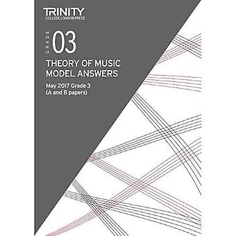 Trinity College London: Theory Model Answers (May 2017) Grade 3