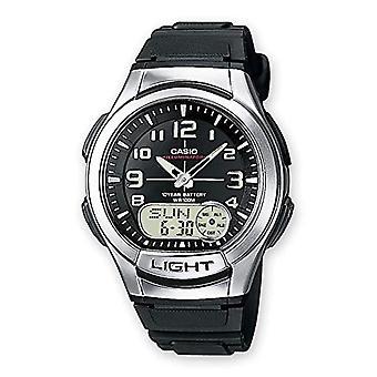 Casio analog-digital Watch quartz men with black resin strap AQ-180W-1BVES