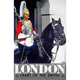 London Guardsman (old rail ad.) fridge magnet  (se)