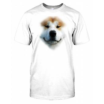 Akita Inu Pedigree Dog Face Mens T Shirt