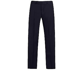 Dobell Mens Navy Suit Trousers Slim Fit Performance