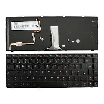 Lenovo V-133020AK1-GR Black Frame Backlit Black German Layout Replacement Laptop Keyboard