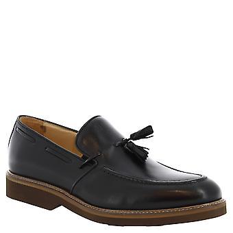 Leonardo sko manns håndlaget dusk loafers i svart skinn