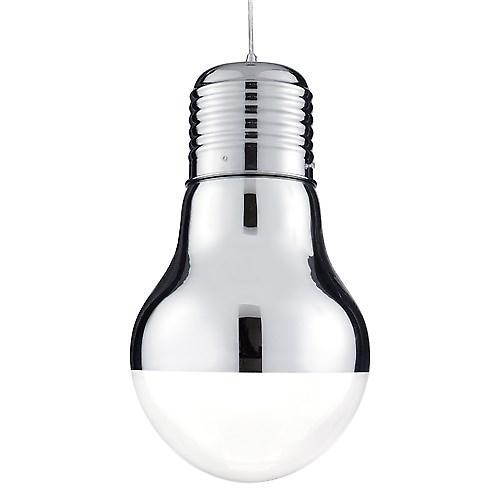 Searchlight 9030CC Neo Mirrored Novelty Pendant Edison Screw Light Bulb