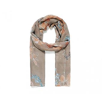 Intrigue Womens/Ladies Leaf And Butterfly Print Scarf