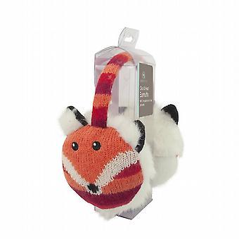 Cozy Ears Click & Heat Knitted Animal Ear Muffs: Fox