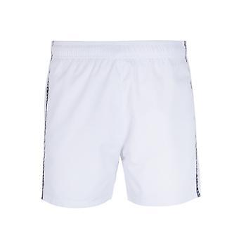 HUGO Logo Taping witte zwem broek