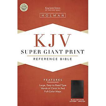 Bible Kjv Super Giant Print Reference Black T/I - Black (large type ed