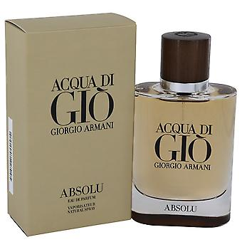 Acqua Di Gio Absolu by Giorgio Armani Eau De Parfum Spray 2.5 oz / 75 ml (Men)