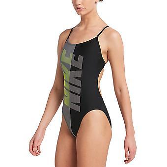 Nike المتصدع قطع قطعة واحدة ملابس السباحة للفتيات