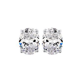 925 Sterling Silver Oval Stud Earrings
