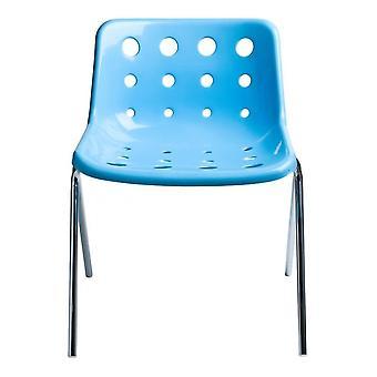 Loft Robin Day 4 Leg Light Blue Plastic Polo Chair