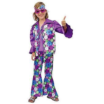 Disfraces para niños Traje hippie para niños púrpura