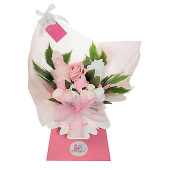 Pink New Baby Girl Clothing Bouquet