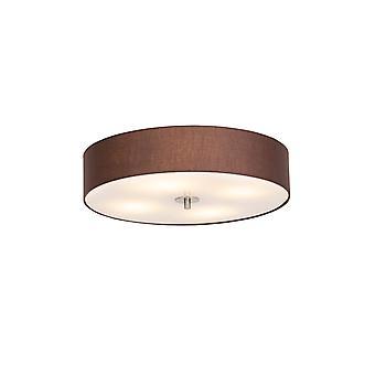 QAZQA plafondlamp Drum 50 rond bruin
