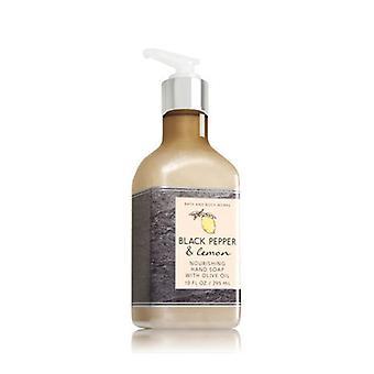 Bad & lichaam werkt zwarte peper & citroen hand zeep met olijfolie 10 Oz/295 ml (2 lot)